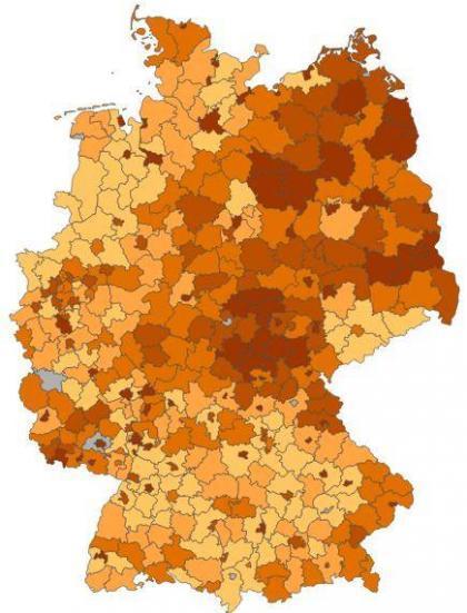 Deutschlandkarte-Alleinerziehende